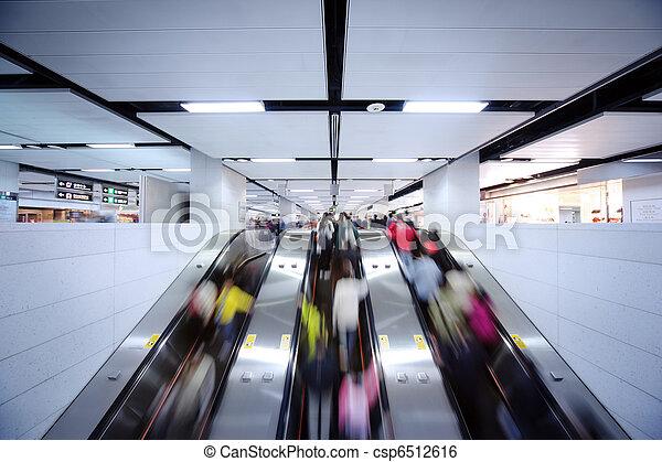 People using escalator - csp6512616