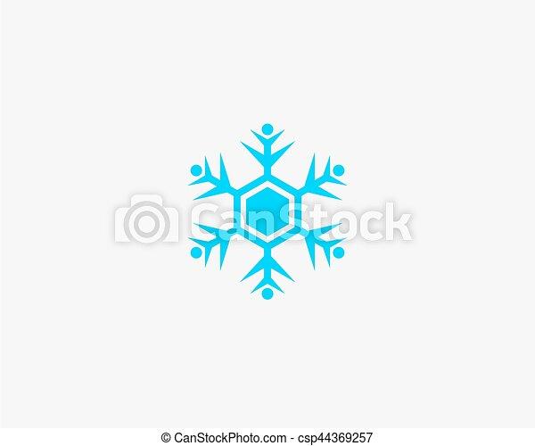 People vector icon, snow design round web blue button. - csp44369257