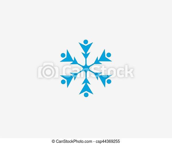 People vector icon, snow design round web blue button. - csp44369255
