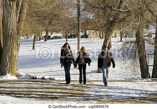People walking in the Park - csp0894579