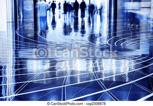 People walking thru the mall. - csp2308878