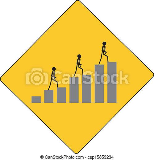 people walking to success on the li - csp15853234