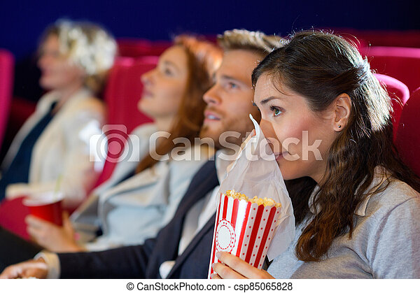 people watching in the cinema - csp85065828