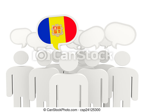 People with flag of andorra - csp24125300