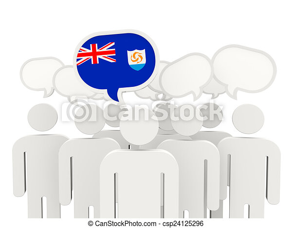 People with flag of anguilla - csp24125296