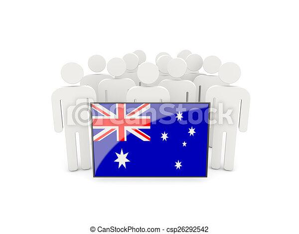 People with flag of australia - csp26292542