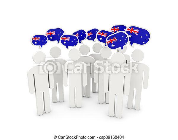 People with flag of australia - csp39168404