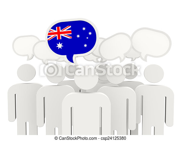 People with flag of australia - csp24125380