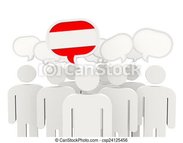 People with flag of austria - csp24125456