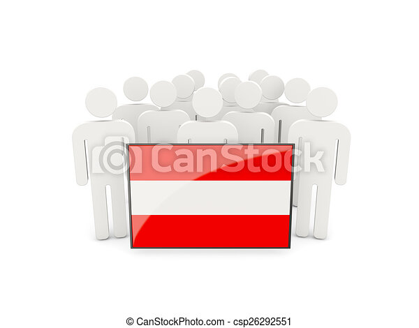 People with flag of austria - csp26292551
