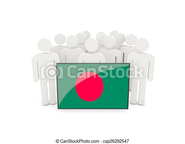People with flag of bangladesh - csp26292547