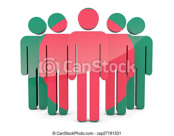 People with flag of bangladesh - csp27181531