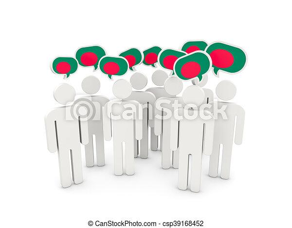 People with flag of bangladesh - csp39168452