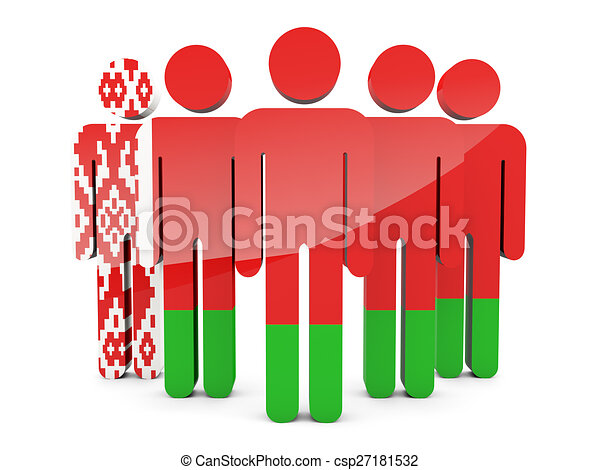 People with flag of belarus - csp27181532