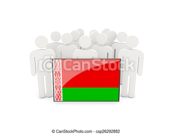 People with flag of belarus - csp26292882
