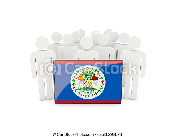 People with flag of belize - csp26292873