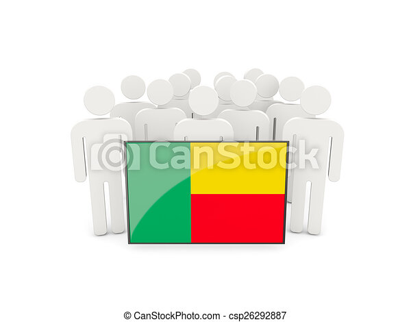 People with flag of benin - csp26292887