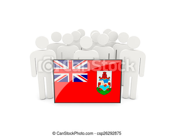 People with flag of bermuda - csp26292875