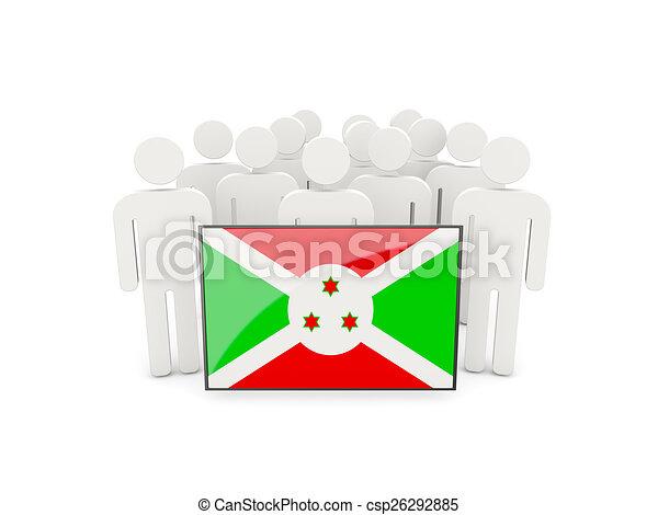 People with flag of burundi - csp26292885
