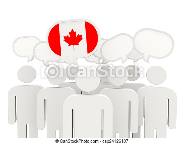 People with flag of canada - csp24126107