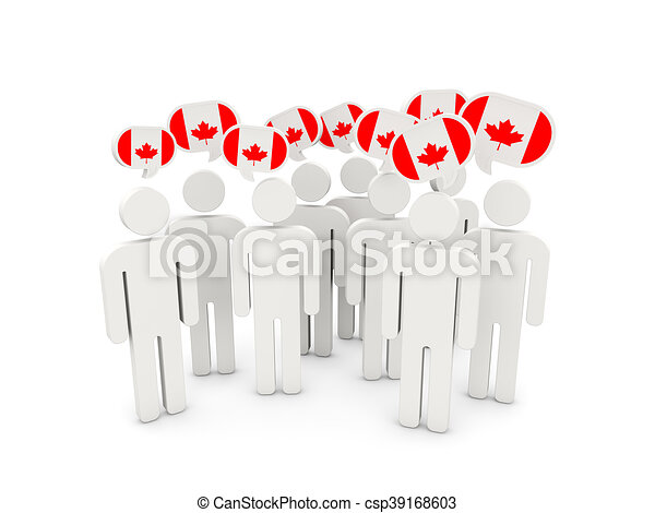 People with flag of canada - csp39168603