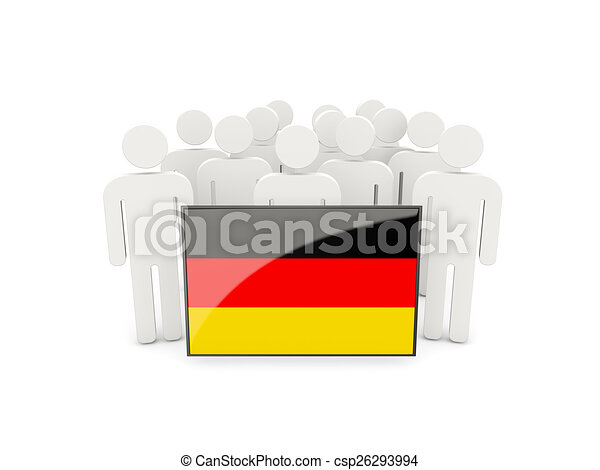 People with flag of germany - csp26293994