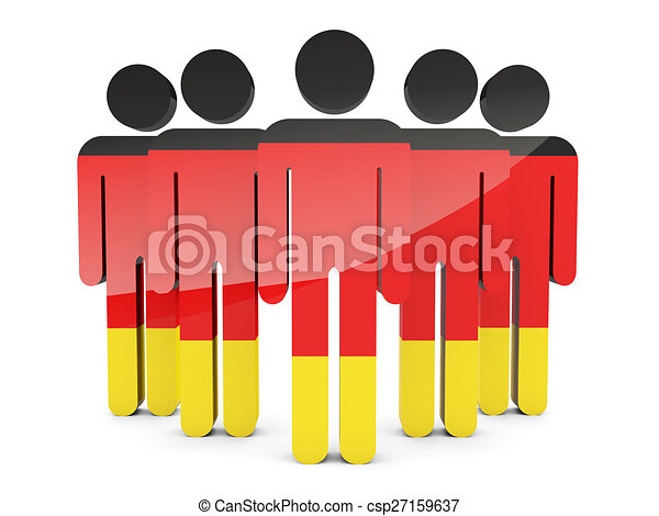 People with flag of germany - csp27159637