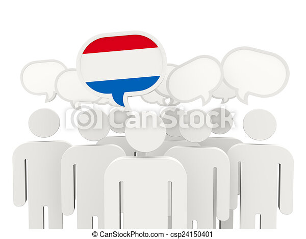 People with flag of netherlands - csp24150401