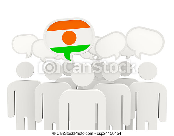 People with flag of niger - csp24150454