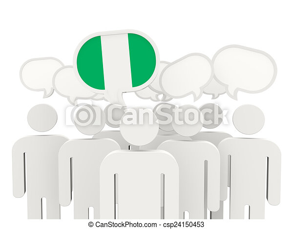 People with flag of nigeria - csp24150453