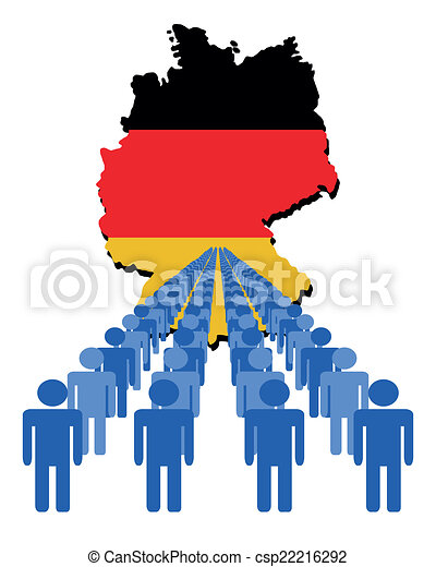 people with Germany map flag - csp22216292