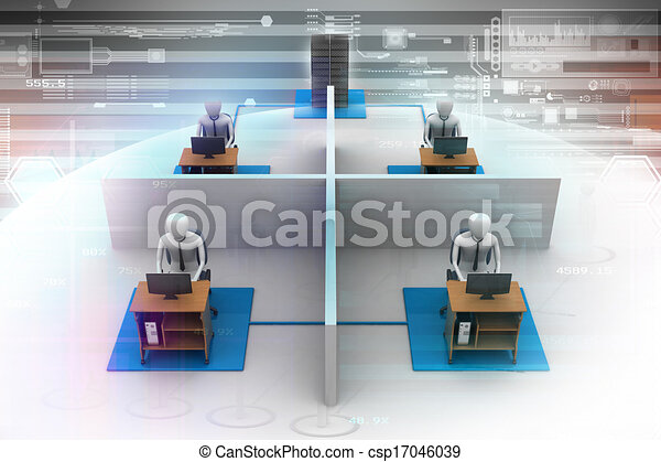 people working with laptop - csp17046039