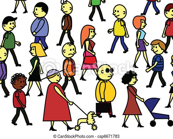 Peoples crowd - csp6671783