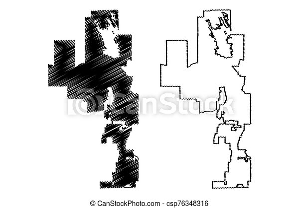 Peoria City (United States cities, United States of America, usa city) map  vector illustration, scribble sketch City of Peoria map