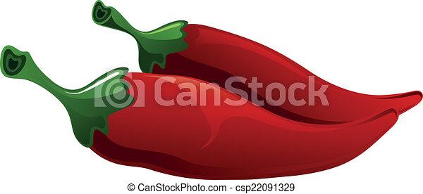 pepe, peperoncino, astratto, rosso caldo - csp22091329