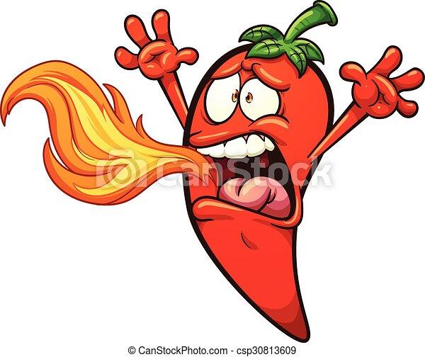pepe peperoncino rosso - csp30813609