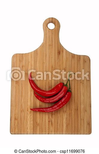 peperoncino, asse, cucina - csp11699076