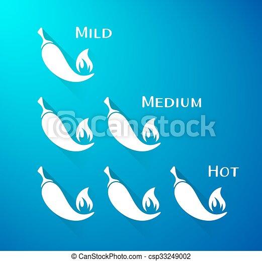 peperoni, chilli, vettore, scala - csp33249002