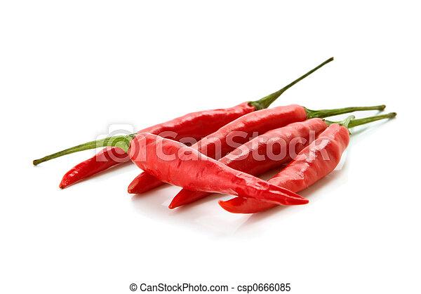peperoni, peperoncino, rosso - csp0666085