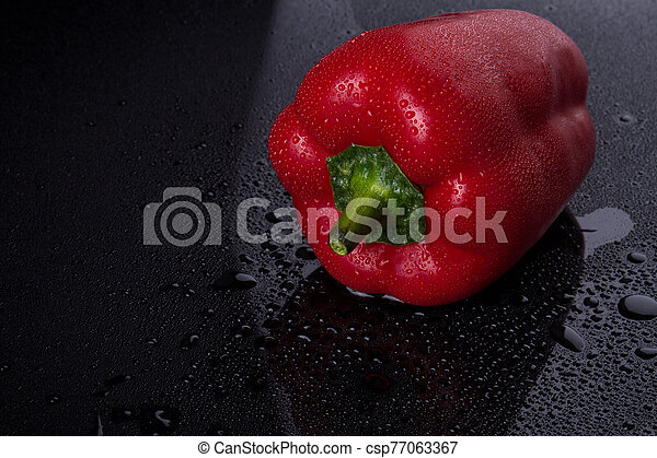 Pepper with red peel. - csp77063367
