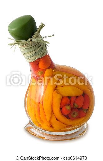 Peppers in bottle - csp0614970
