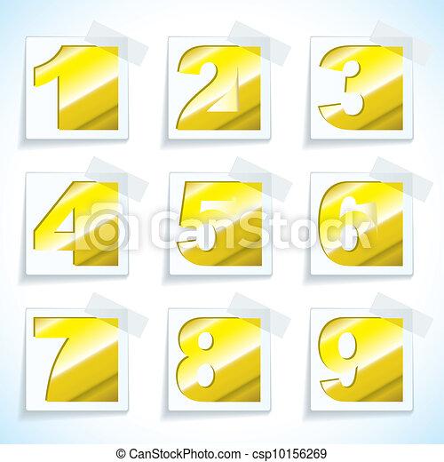 Número de placas de oro - csp10156269
