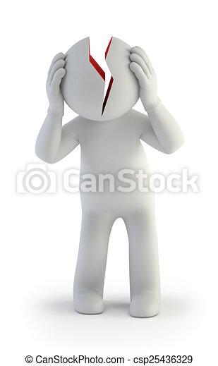 3D personas pequeñas - estrés - csp25436329