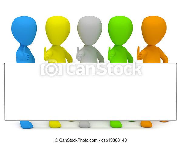 3D personas pequeñas - publicidad. - csp13368140
