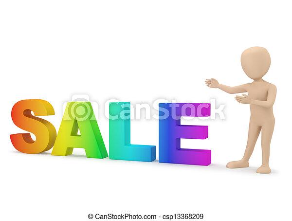 3D personas pequeñas - anuncios! - csp13368209