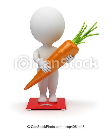 3D personas pequeñas - dieta - csp4061448
