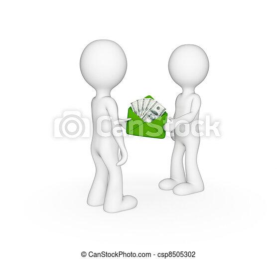 Tres pequeñas personas - csp8505302