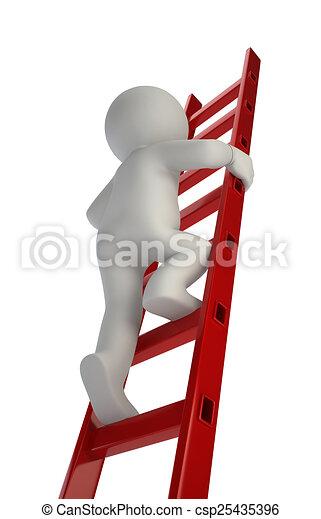 3D personas pequeñas - arriba - csp25435396
