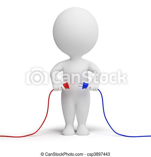 3D personas pequeñas - conexión - csp3897443