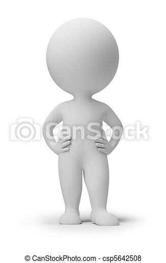 3D personas pequeñas - confianza - csp5642508